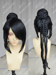 100% Brand New High Quality Fashion Picture full lace wigs>Final Fantasy   lulu   Braids Head + Wig Bag   Black Cosplay Wig