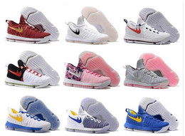 36 Couleur Air Zoom KD 9 Hommes Chaussures de basket-ball KD9 Oreo Gris Wolf Kevin Durant 9s Hommes Sport Training Sneakers Warriors Accueil US Taille 8-12 à partir de kd chaussures hommes taille 12 fabricateur