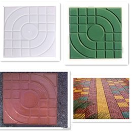 Wholesale 4 Styles Square Garden Path Concrete Plastic Brick Mold Paving Pavement Walkway For Home Garden Decoration