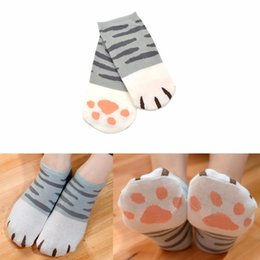 2017 mignon cosplay fille Grossiste-Mode Filles Cute Cat Griffe Style Fashion Novelty Cat Griffe Short Chaussette Atsume Cosplay Props Harajuku Cartoon Chaussettes Femme mignon cosplay fille offres