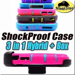 Wholesale Iphone cases Caso híbrido del silicón de la armadura a prueba de choques para el iphone más casos Samsung galaxia s6 s7 nota del borde s5 clip caja al por menor