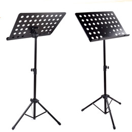 Wholesale Adjustable Folding collapsible Music Tripod Stand Iron Metal Black Color deluxe rion structure stand
