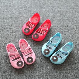 Jalea al por mayor de los gatos en Línea-Venta al por mayor-2017 nuevos zapatos llanos de la jalea para las sandalias del verano del bebé mini mini niños pequeños del niño de los niños embroma el tamaño del gato / de las galletas