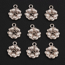 Wholesale 2017 Antique Silver Begonia flowers Spacer Charm Beads Pendants Alloy Handmade Jewelry DIY L344