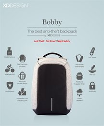 Wholesale 2017 New Anti Theft City Backpack Bags By XD Design for School College Travel with USB Luxury Creative Gift Mens Women