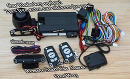 Descuento sistema de alarma a distancia un coche Sistema audio de alarma de alarma del coche del comienzo de una sola manera de la alarma es con los telecontroles de la llave de tirón de la tapa de la calidad 2pcs, 433.92mhz, aprendizaje del CAC,
