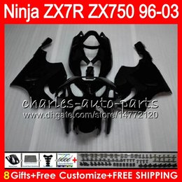 8Gifts 23Colors For KAWASAKI NINJA ZX7R 96 97 98 99 00 01 02 03 18HM7 Matte black ZX750 ZX 7R ZX-7R 1996 1997 1998 1999 2000 2003 Fairing