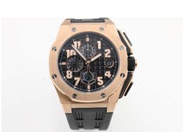 Wholesale - fashion luxury AAA brand new watch man royla oak watch sports quartz timing rubber band gold watch