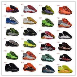 Wholesale Hypervenom Phantom II FG Soccer Shoes Hypervenom Football Shoes Soccer Boots Football Boots Men Outdoor Soccer Football Cleats Athletic Shoe