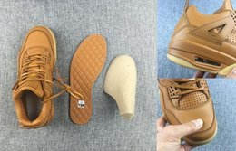 Wholesale With Box Retro Air IV Premimu Pinnacle Wheat Man Basketball Shoes Best Quality Size US