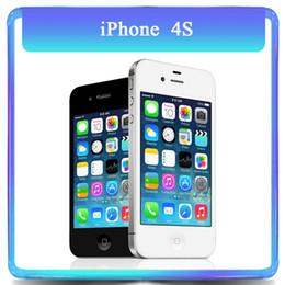"Original Apple Iphone 4S 16GB 32GB Dual Core 8.0MP 3.5""TouchScreen WCDMA Unlocked Refurbished Phone"