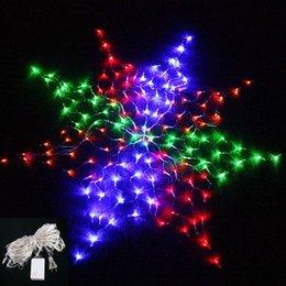Promotion rgb led net Grossiste-Colorful 160LEDs RVB Lumière Lumière de Noël Lumière de mariage de mariage Cordes Lumière flocon de neige Lumière Led EU / US Plug