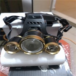 1pcs 3T6 Gold Silver High Power Light Led Headlight headlamp for Camping Traveling Real Brighten 2400 Liumen Suit for 2pcs 18650 Battery