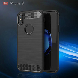 30pcs Back Cover Case For iphone 8 Dirt Resistant Trending Style Soft TPU Carbon Fiber 5.8 inch Mobile Phone Bags Cases For iphone 8