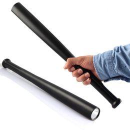 Wholesale 3W LED Tactical Flashlight CREE Q5 model Safety Long Flashlight Baseball Bat Torch Metal Security Flashlight Batons