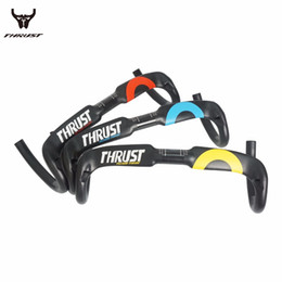Carbon Road Handlebar Bike Bicycle Handlebar Road Carbon Super Light Weight THRUST Yellow Red Blue Colors Bicycle Accessories