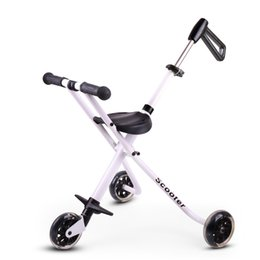 Tricycle Baby stroller Folding baby Tricycle Super light baby-car Aluminum alloy simple portable folding bicycle for children