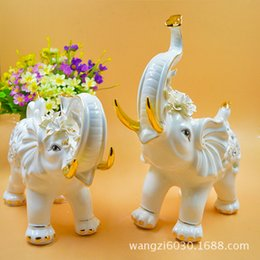 Wholesale 2 elephant series of European ceramic crafts household items decorative ornaments works of art