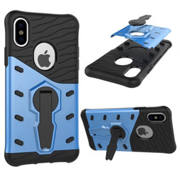Sniper Hybrid Armor Case for iphone X 5.8 inch 8 7 7G S7 edge S8 plus Kickstand Dual 360 degree Stand Holder Shockproof Back cover