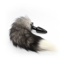 Dia30*105mm Wild Fox Tail Butt Plug, Anal Plug, Anal Sex Toy For Women Adult Sex Toy