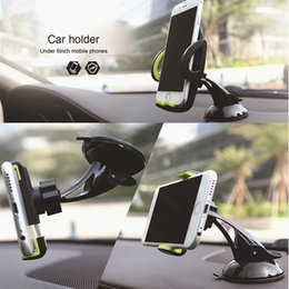Universal Car Phone Holder Gps Accessories Viscosity Silica Suction Cup Celular Para Auto Dashboard Windshield Mobile Cell Retractable Mount