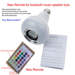 Wholesale Best Quality Smart Wireless Bluetooth W LED Speaker Bulb Audio Speaker LED Music Playing Lighting With Keys E27 Remote Control