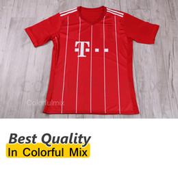 Wholesale 2017 Soccer Jersey HUMMELS Football Uniforms RIBERY ROBBEN munich MULLER BOATENG BERNAT Top Thai Quality Football Shirt LAHM GREEN