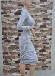 2017 robes moulantes kardashian Grossiste-Sexy Kim Kardashian Gris Deux Piece Crayon Dress Crop Top Dress Set Bodycon Robe Celebrity Robes TCD054 robes moulantes kardashian sortie
