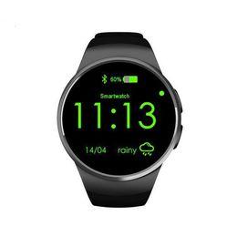 Nouveaux écrans de téléphone à vendre-Montres intelligentes nouvelle mode KW18 Montre intelligente Bluetooth plein écran Support SIM TF Card Smartwatch Téléphone fréquence cardiaque pour Android IOS