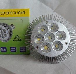 FREE SHIPPING WHOLESALE Non-DIMMABLE LED PAR30 led spotlight bulb 7*3W E27 PAR 30 21w white led par30 warm white CREE 20pcs lotdavid's store