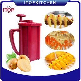 Fast Delivery! ABS Plastic 3 in 1 Commercial Manual Twisted Potato Cutter,Potato Slicer, French Fry Cutter Hot Dog Potato