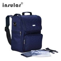 Wholesale Multifunctional Insular Baby Diaper Bag Multifunctional Mommy Bag Backpack Changing Bag