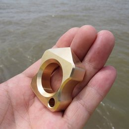 Wholesale Brass H59 EDC Single Finger Knuckle Duster Ring Paper Weight CNC Machined mm Thick mm Finger Diameter g