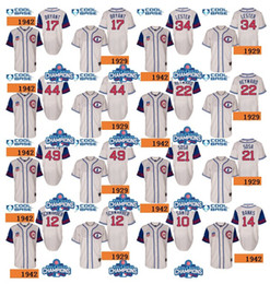 Wholesale 1942 turn back World Series Champions men Chicago Cubs Chris Bryant Arrieta Anthony Rizzo Schwarber jason heyward Baseball Jersey