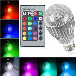 9W E27 LED RGB Light Bulb 16 Colors Change AC85V-AC265V 24 Keys Control RGB Bulb for Christmas Party Holiday Decoration