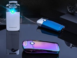 Wholesale Primo Coil lighters USB Rechargeable Windproof Electronic Arc Lighter Iron Man Metal primo arc lighter colors with gift box