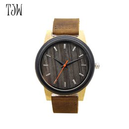 TJW Imitation Wood men watch fashion women retro leather wooden Roma Design Vintage Quartz Casual Wrist watches for men own factory watch