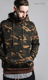 Wholesale Brand INFLATION Men Casual Hoodides Sweater Fashion Pilot Letter Camouflage Sweatshirt Loose Couples Jogging Hoodies Pullovers jackets Coats