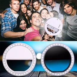 Descuento anillo de luz led de la cámara Venta al por mayor-Selfie ajustable brillante LED portátil anillo de flash de luz de la cámara de luz de relleno de fotografía Flash Spotlight para el teléfono móvil del iPhone