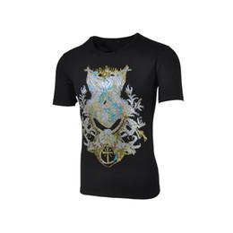 Wholesale men Fashion Color diamond shirt Michael Smith black man thrasher gym trasher crossfit anime paillette t shirt paint big Size MXXXL