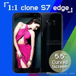 2017 pouces 1gb Goophone Android 6.0 s7 bord 1: 1 Clone S7 s7 bord MTK6580 64 bits Quad core Afficher Octa core Smartphone 5.5 pouces 4g lt 1 Go RAM 1 Go ROM 12.0MP peu coûteux pouces 1gb