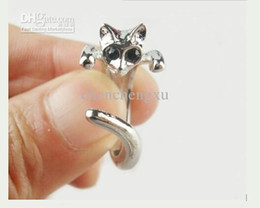 Promotion Price! wholesale Jewelry New Adjustable Cat Ring Animal Fashion Rings 5pcs lot Gift