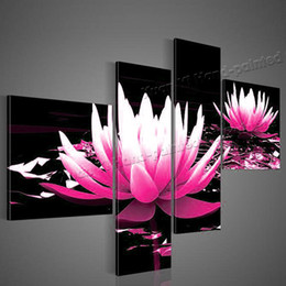 4 Panel Abstract Oil Hand Painted Wall Painting Flower Canvas Art Picture Home Cuadros Decoracion For Bed Room Unframed XY062
