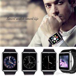 Wholesale 2016 Latest Version Multi language Smart Watch GT08 Clock Sync Notifier Bluetooth Connectivity iOS Android Phone Smartwatch VS DZ09 U8