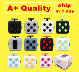 Wholesale Fidget cube New Popular Decompression Toy Matte Fidget cube the world s first American decompression anxiety Toys Free DHL High Quality