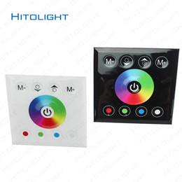 24v диммер панель Онлайн-HITOLIGHT DC12-24V Настенная сенсорная панель RGBW полноцветный светодиодный контроллер для RGB или RGBW светодиодных прожекторов 5050,2835 8 клавиш настенного переключателя