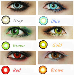 (USA Stock) CandyVision 7 colors in stock Crazy Lenses Colorful Cosmetic contact lenses eye color Blood Red Eye Freeshipping
