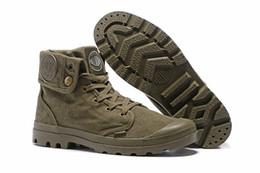 Altos tops hombres 45 en venta-Zapatos de tacón alto de la marca de fábrica de la marca de fábrica del estilo del paladio de la venta caliente Muchachos de la ciudad del nuevo hombre de la mujer Zapatillas de deporte cómodas al aire libre del tobillo Tamaño barato EUR 39-45