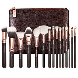 Wholesale hot sell COMPLETE MAKEUP BRUSH SET Professional Luxury Set Make Up Tools Kit ROSE GOLDEN Powder Blending brushes