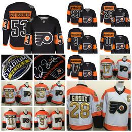 Promotion série de hockey 2017 Stade de la série Philadelphie Flyers Shayne Gostisbehere Claude Giroux Travis Konecny Wayne Simmonds Jakub Voracek Provorov Hockey Jersey